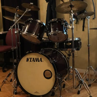 Tama Starclassic Maple Lacquer 4pc Shell Pack, includes Zildjian Cymbals, Stands, and Master Snare