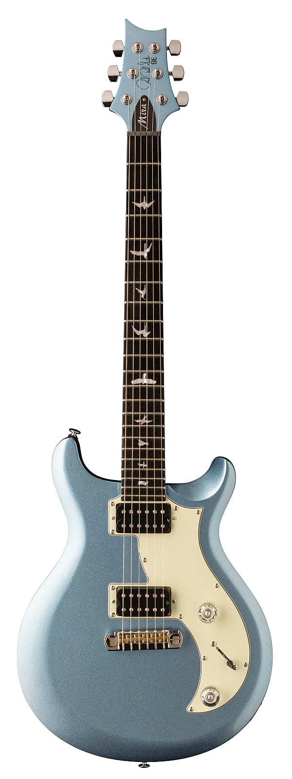 Paul Reed Smith PRS SE Mira Electric Guitar Frost Blue Metallic w/ Gig Bag