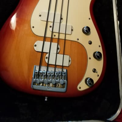 1983 Fender Elite II Precision Bass Sienna Sunburst for sale