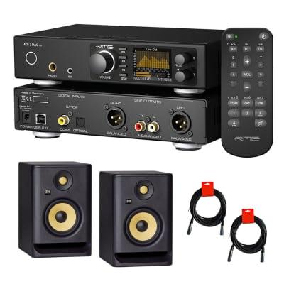 """RME ADI-2 DAC FS Ultra-Fidelity PCM/DSD DA Converter with KRK ROKIT 5 G4 5"""" Studio Monitor (Pair) &"""