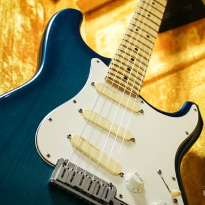 Fender Strat Plus Deluxe with Maple Fretboard 1992 Blue Frost for sale