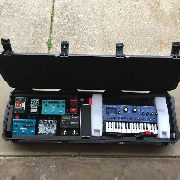 skb waterproof bass keyboard guitar pedalboard case with reverb. Black Bedroom Furniture Sets. Home Design Ideas