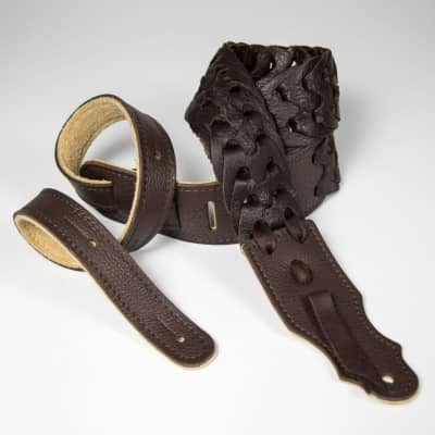 """Franklin 2"""" Leather Link Strap, Chocolate"""