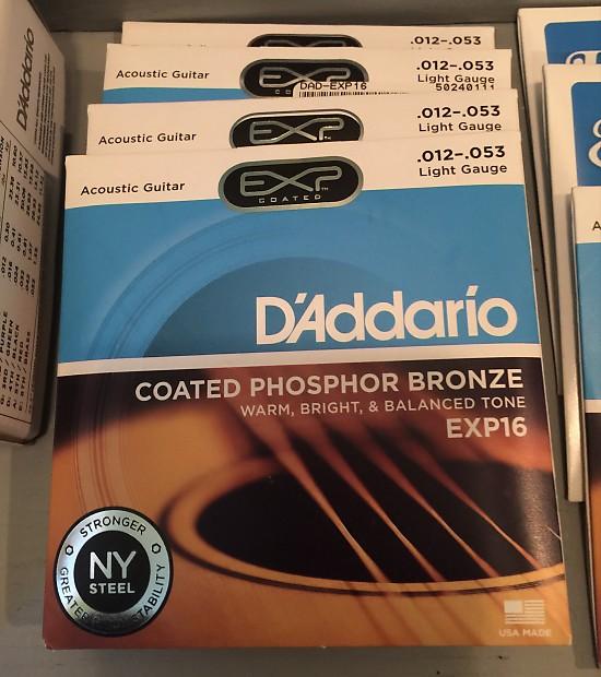 10 Full Sets D/'Addario Acoustic Guitar Strings Gauge 12-53 EJ16-10P