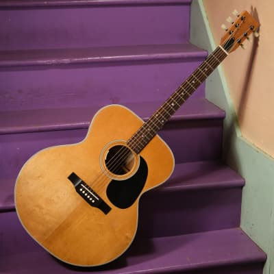 1970s Harmony H6583 X-Braced Jumbo Flattop Guitar (Vintage, Old) for sale