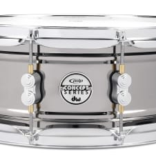 """PDP PDP PDSN5514BNCR Concept Nickel over Steel Snare 5.5"""" x 14"""" Chrome Harware"""
