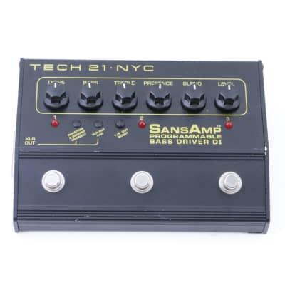 Tech 21 Programable Bass Driver Di Bass Guitar Effects Pedal P-07846