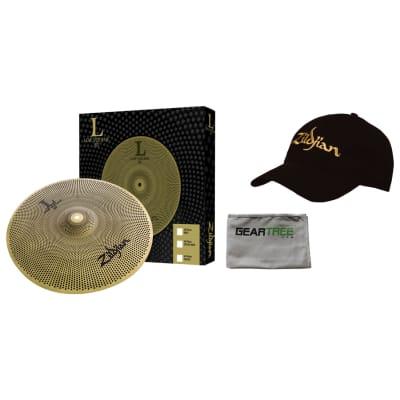 Zildjian L80 Low Volume 18 Inch Crash Ride Cymbal with Baseball Cap and Polish Cloth