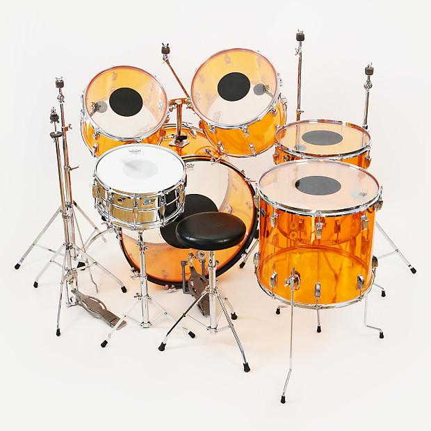 1977 ludwig vistalite john bonham 6 piece drum set beyond reverb. Black Bedroom Furniture Sets. Home Design Ideas