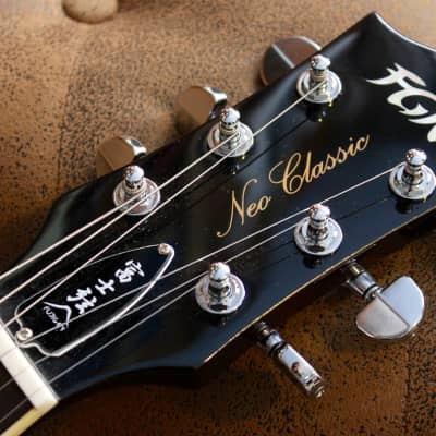 FGN Fujigen Guitars Neo Classic LS20 Flame Tobacco Sunburst