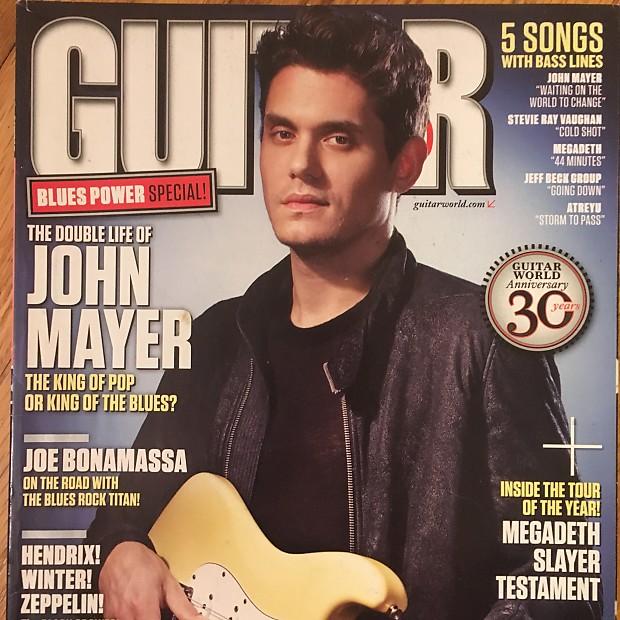 guitar world february 2010 john mayer nasonm reverb. Black Bedroom Furniture Sets. Home Design Ideas