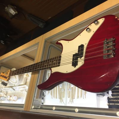 Fullerton Electric 4 Stings Bass Guitar, Red & White for sale