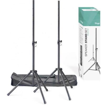 Stagg SPSQ10 Set Speaker Stands with Carry Bag for sale