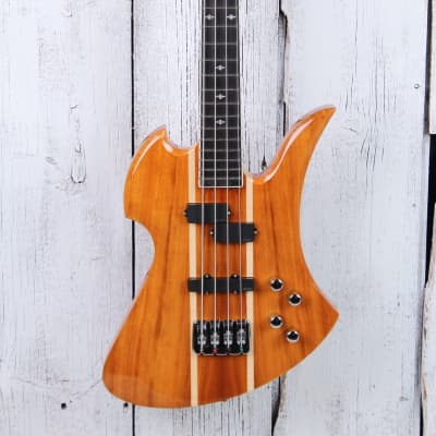 BC Rich Heritage Classic Mockingbird Bass Koa 4 String Electric Bass Guitar for sale