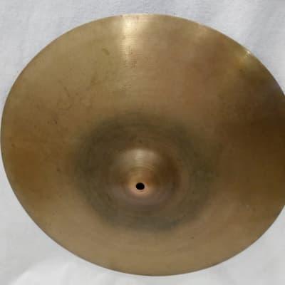 "Zildjian Transition Stamp 16"" Crash Cymbal  929 grams   1940s/50s"