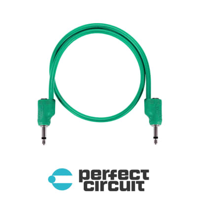 """Tiptop Audio Stackcable GREEN (20CM - 8"""")"""
