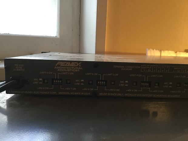 peavey a a 8p eight channel preamp architectural acoustics reverb