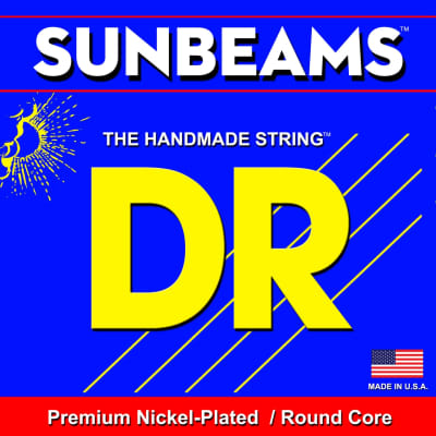 DR Sunbeams Premium Nickel-Plated/Round Core Bass Strings NMR-45 45 65 85 105