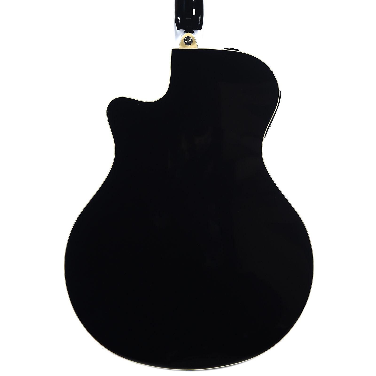Yamaha Apx600 Thinline Acoustic Electric Guitar Black
