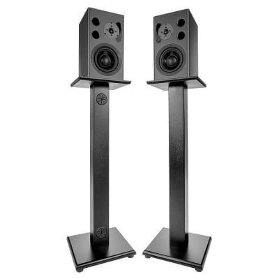 "ProWorkstations Speaker Stands Pair - Black, 42"""