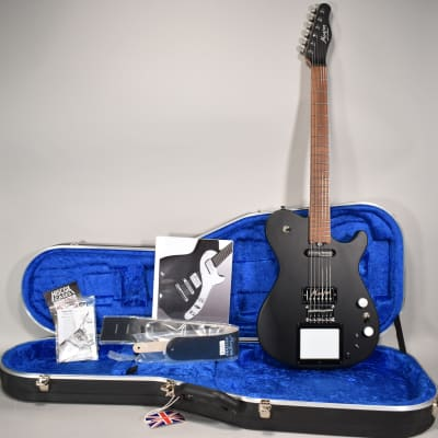 NEW Manson MA2 Evo S Electric Guitar Matte Black Sustaniac XY MIDI Screen w/OHSC for sale