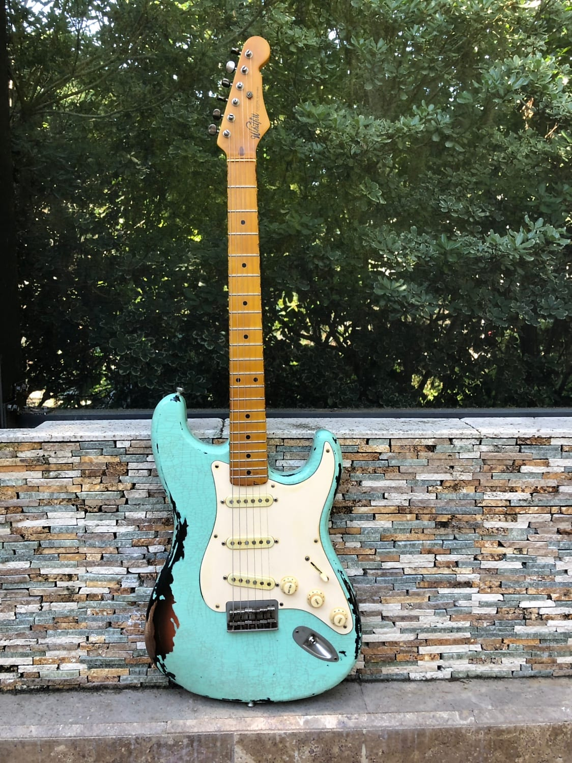 Whitfill S  Surf Green over Sunburst KILLER Relic Strat! *Authorized Dealer*