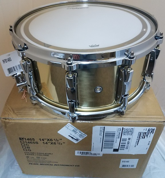 pearl reference 14x6 5 rolled seamless 3mm brass snare drum reverb. Black Bedroom Furniture Sets. Home Design Ideas