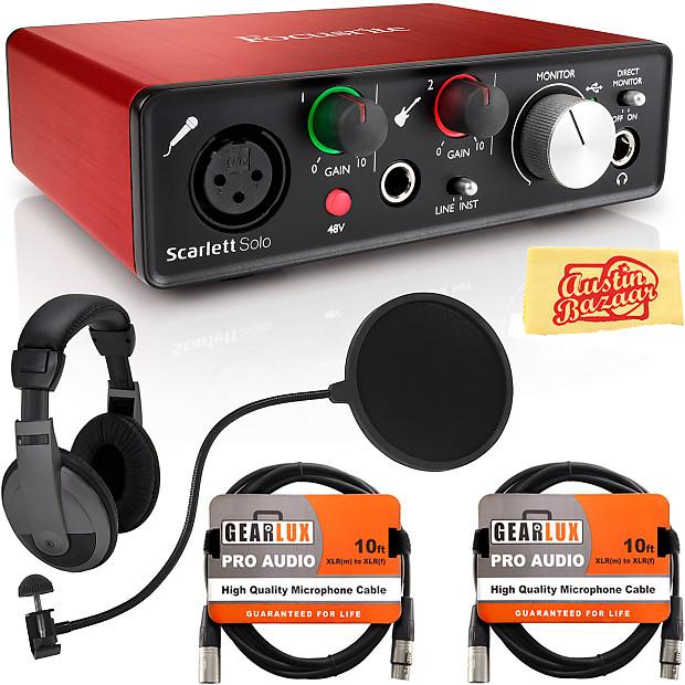 focusrite scarlett solo usb audio interface w headphones reverb. Black Bedroom Furniture Sets. Home Design Ideas