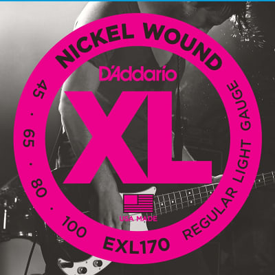 D'Addario EXL170 Nickel Wound Long Scale Bass Guitar Strings, Light Gauge