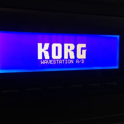 Korg Wavestation A/D with screen upgrade and PCM cards