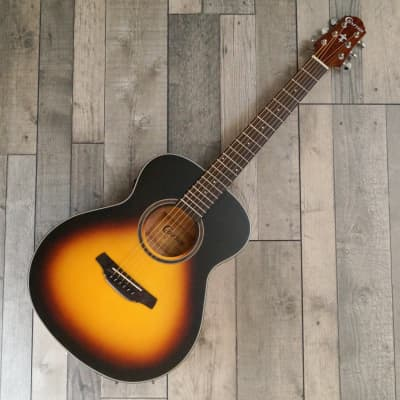 Crafter HM-100E/OP.VS 3/4 Scale Electro Acoustic Travel Guitar, Vintage Sunburst for sale