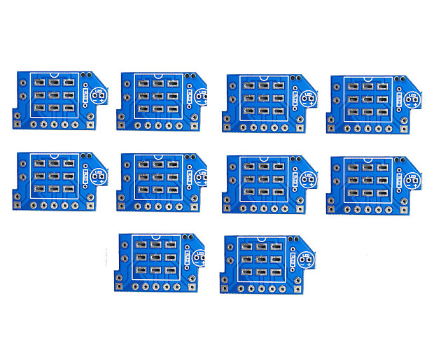 10 pcs pcb for 3pdt true bypass switch pedal footswitch reverb. Black Bedroom Furniture Sets. Home Design Ideas