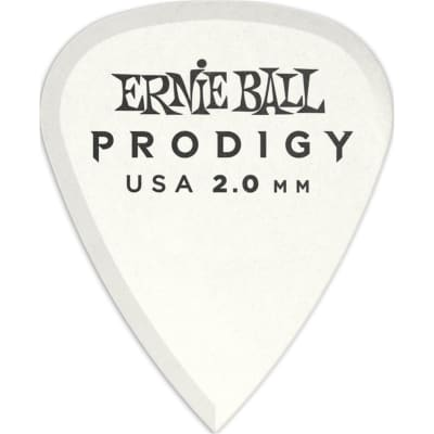 Ernie Ball 9202 Prodigy Standard Pick, 2mm, White, 6 Pack for sale