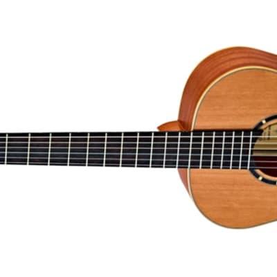 Ortega Family Series Satin 3/4 Size Leftie Acoustic Guitar Cedar for sale