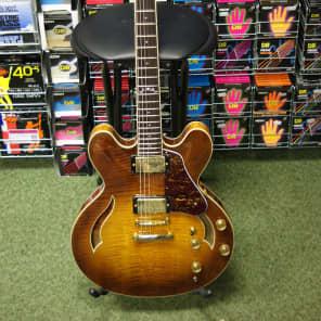 Crafter SEG480TM-VTG-V semi acoustic guitar in vintage sunburst for sale
