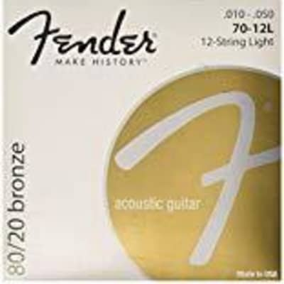 Fender 80/20 Bronze Acoustic Guitar Strings, Light for sale