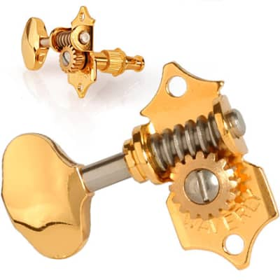 Waverly Gold Guitar Tuners with Butterbean Knobs for Solid Pegheads Brand New in Box. Full set. for sale