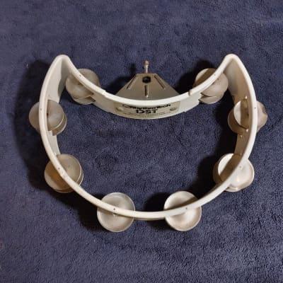Rhythm Tech DST Drum Set Tambourine w/ NICKEL JINGLES 1980's White