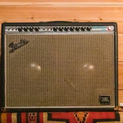 1969 Fender Twin Reverb 85-Watt Vintage Silverface with Blackface mod  Guitar Combo Amp with JBLs