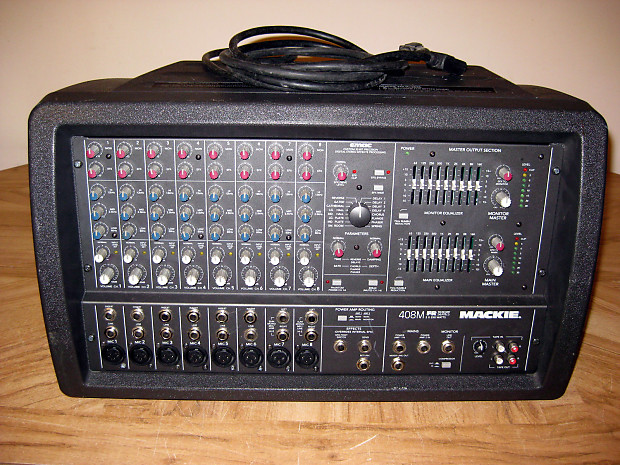 mackie 408m fr series 500w 8 channel powered mixer reverb. Black Bedroom Furniture Sets. Home Design Ideas