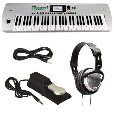 KORG i3 Music Workstation - Matte Silver - Bonus Pak