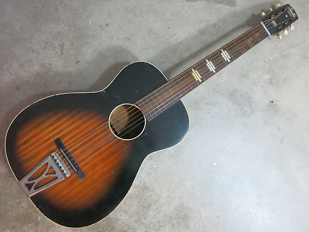 vintage 1960s harmony stella acoustic parlor guitar made in reverb. Black Bedroom Furniture Sets. Home Design Ideas