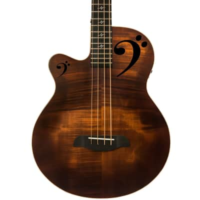 Sawtooth Rudy Sarzo Signature Left-Handed Acoustic-Electric Bass Guitar, Includes Padded Gig Bag for sale