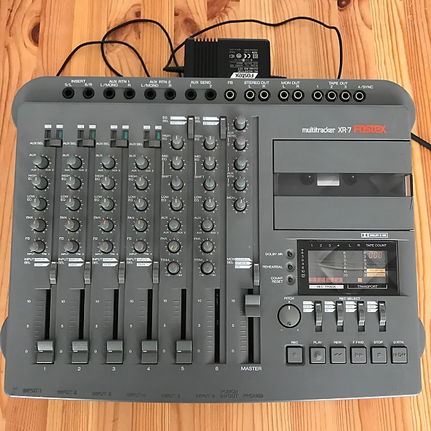 Fostex XR-7 4 track cassette multitrack recorder-mixer