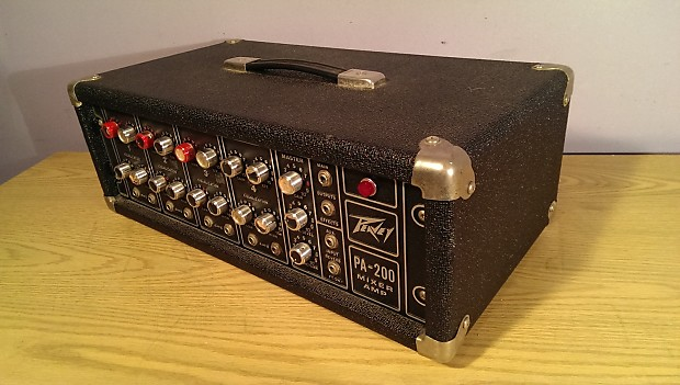 Dannys Auto Parts >> Peavey PA-200 4 Channel Mixer / Amp / Works Perfectly / | Reverb