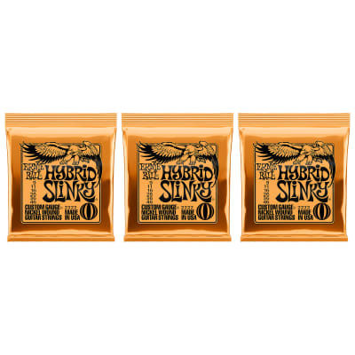 Ernie Ball 2222 Hybrid Slinky Electric Guitar Strings, .009, - .046 (Pack of 3)