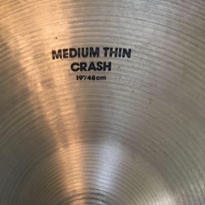 """Zildjian 19"""" Medium Thin Crash"""