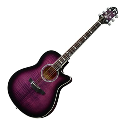 Crafter Noble Small Jumbo Flame Maple Trans Purple Sunburst Gloss 25.5