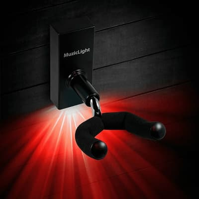 Osiamo MuzicLight Guitar/Bass Wall Hanger with Red LED's