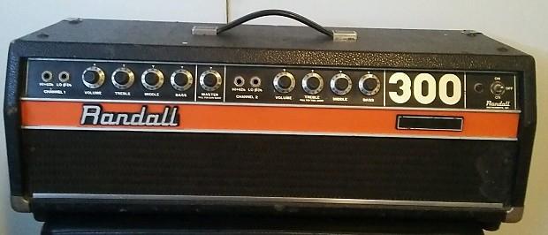 rare vintage randall 300 guitar amplifier head solid state reverb. Black Bedroom Furniture Sets. Home Design Ideas